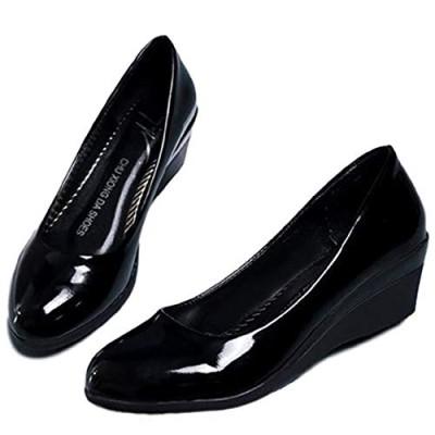 [マナンティアール] レディース ファッション 靴 くつ ウェッジヒール パンプス シューズ 靴シューズ ヒール ローヒール ウェッジソール 女性 女 かわいい 人気 おしゃれ フォーマル