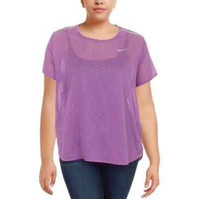 レディース 衣類 トップス Nike Womens Plus Workout Fitness T-Shirt Tシャツ