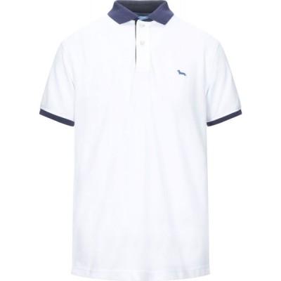 ハーモント アンド ブレイン HARMONT&BLAINE メンズ ポロシャツ トップス polo shirt White