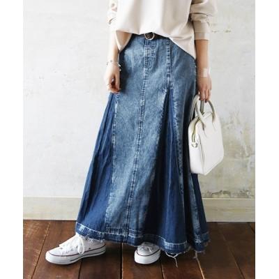 and it_ / パネル切替デニムロングスカート WOMEN スカート > デニムスカート