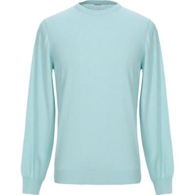 マーロ MALO メンズ ニット・セーター トップス sweater Sky blue
