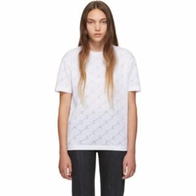 ステラ マッカートニー Stella McCartney レディース Tシャツ トップス White Devore Monogram T-Shirt White