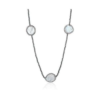ピュアパール pure pearl 淡水パール&ヘマタイトネックレス PPY6054N