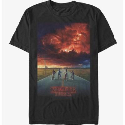 ストレンジャーシングス Tシャツ Stranger Things Demogorgon Cloud Poster T-Shirt メンズ