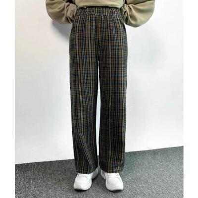 MIXXMIX レディース パンツ Side Pocket Check Pants