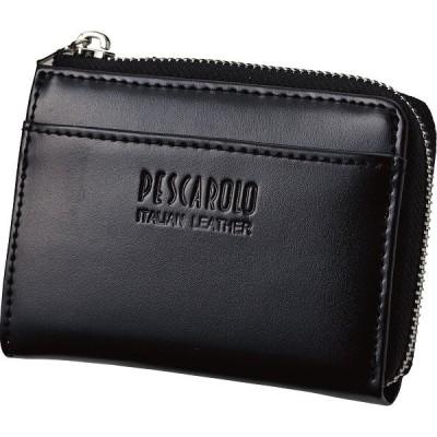 ペスカロロ イタリアンレザー小銭入 ブラック PR605A