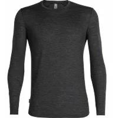 Icebreaker メンズシャツ Icebreaker Sphere Long Sleeve Crewe Baselayer Blac