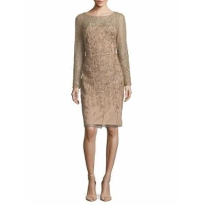 デイビッドマイスター レディース ワンピース Embroidered Cocktail Dress