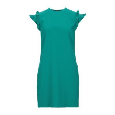 VICTORIA, VICTORIA BECKHAM ミニワンピース&ドレス エメラルドグリーン 8 ポリエステル 100% ミニワンピース&ドレス