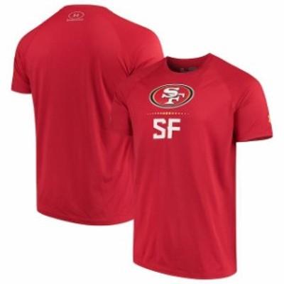 Under Armour アンダー アーマー スポーツ用品  Under Armour San Francisco 49ers Scarlet Authentic Combine Lockup Tec