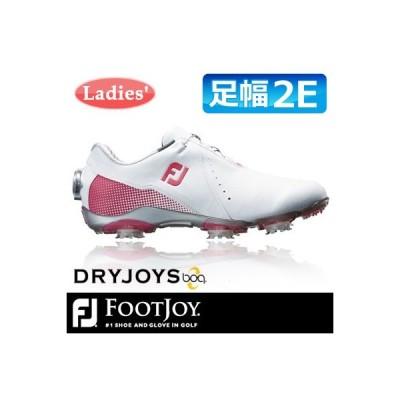 FOOTJOY [フットジョイ] DRYJOYS Boa for women レディース ゴルフシューズ 99069 ホワイト/ピンク