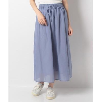 (Te chichi/テチチ)【Lugnoncure】TCボイルギャザースカート/レディース ブルー