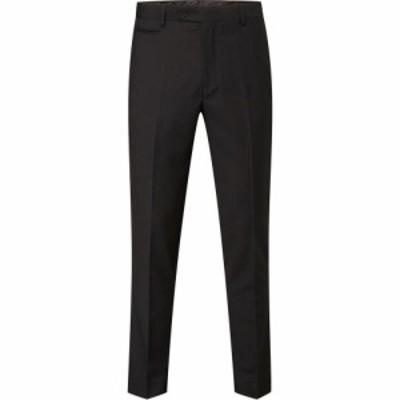 スコープス Skopes メンズ スラックス ボトムス・パンツ Milan Tapered Fit Suit Suit Trousers Black