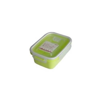 岩崎工業  保存容器 スマートフラップ&ロックス 660ml(M) 1P グリーン