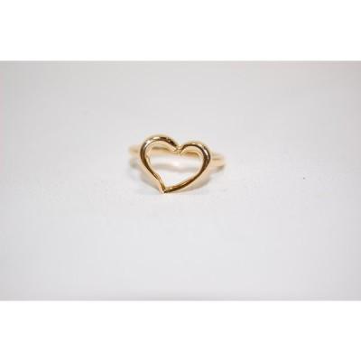 4℃ ヨンドシー K18 ハートモチーフ リング 指輪 サイズ約10号 レディスリング 【中古】【当日発送】