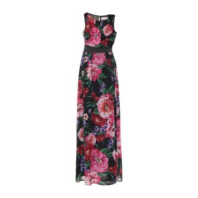 TWENTY EASY by KAOS ロングワンピース&ドレス ブラック 44 ポリエステル 100% ロングワンピース&ドレス