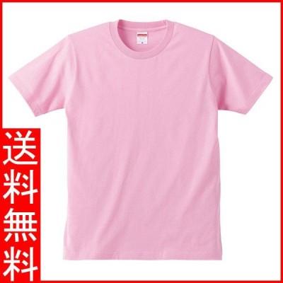 Tシャツ メンズ レディース 半袖 無地 丸首 大きい 綿 綿100 シャツ tシャツ スポーツ クルーネック ブランド トップス 男 女 丈夫 人気 s m l 2l 3l 4l ピンク