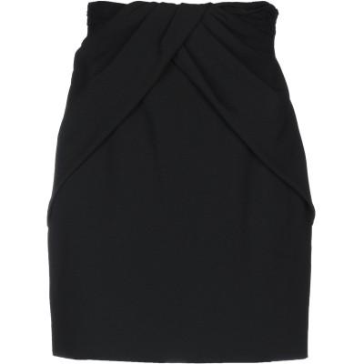 SAINT LAURENT ひざ丈スカート ブラック 34 アセテート 53% / レーヨン 47% ひざ丈スカート