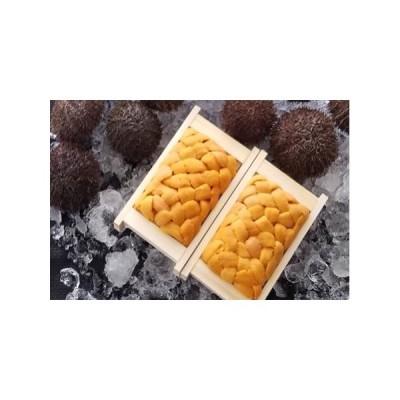 ふるさと納税 冷凍エゾバフンウニ70〜80g×2折[2021年11月中旬以降発送] A-53016 北海道根室市