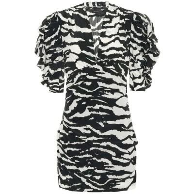 イザベル マラン Isabel Marant レディース ワンピース ワンピース・ドレス Farah stretch-silk minidress Black
