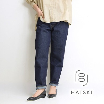 HATSKI ハツキ ルーズテーパードデニムパンツ Washi One Wash ワンウォッシュ 18001-W-OW レディース