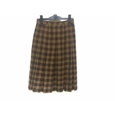 レリアン Leilian スカート サイズ9 M レディース ベージュ×ブラウン×ダークブラウン【中古】20191003