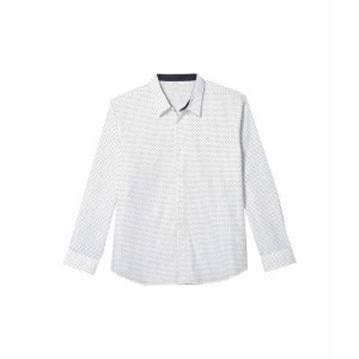 カルバンクライン メンズ シャツ トップス Long Sleeve Poplin Wrinkle Resistant Casual Button-Up Shirt Brilliant White