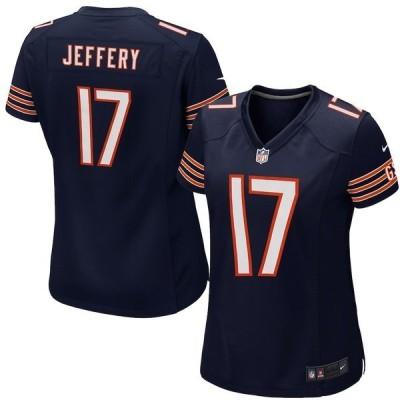 ナイキ レディース Tシャツ トップス Alshon Jeffery Chicago Bears Nike Women's Game Jersey