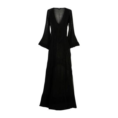 ジャストカヴァリ JUST CAVALLI ロングワンピース&ドレス ブラック S コットン 92% / ナイロン 8% / レーヨン ロングワンピ