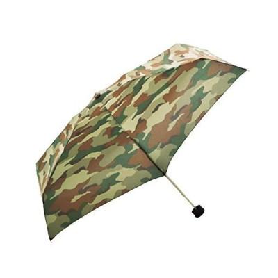 HUS.(ハス) 晴雨兼用折りたたみ傘 スマートデュオ Brown Camo 迷彩柄 軽量 メンズ レディース