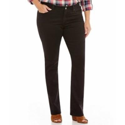 リーバイス レディース デニムパンツ ボトムス Levi'sR Plus Size 414 Classic Straight Soft Black