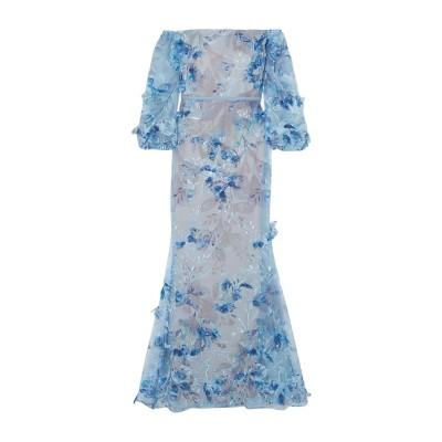 マルケッサ・ノッテ MARCHESA NOTTE ロングワンピース&ドレス ブルー 2 ナイロン 100% / ポリエステル ロングワンピース&ドレス