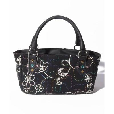 【サボイ】花柄刺繍トートバッグ