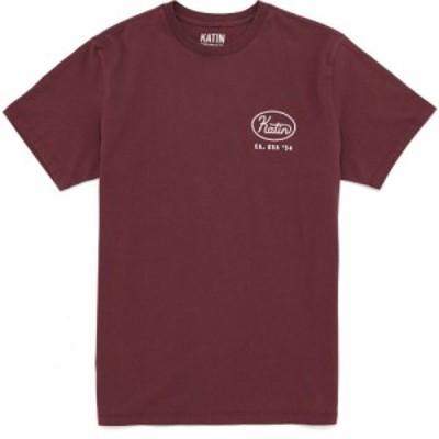ケイティン Katin メンズ Tシャツ トップス union short sleeve t-shirt Dark Red