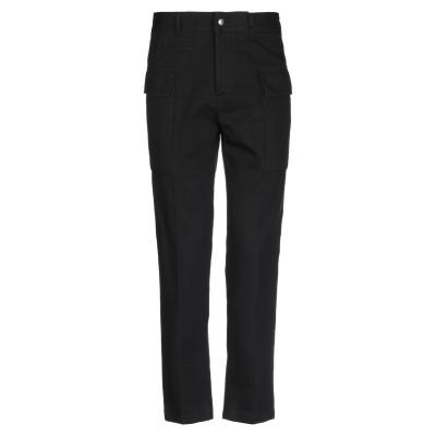ボークー ..,BEAUCOUP パンツ ブラック 44 コットン 96% / リネン 4% パンツ