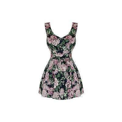ハーツアンドローズロンドン ドレス ワンピース ハートs And ローズs London ブルー ピンク フローラル ビンテージ 50s 60s ミニ パーティ Prom ドレス