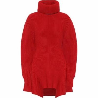 アレキサンダー マックイーン Alexander McQueen レディース ニット・セーター トップス wool and cashmere turtleneck sweater Lust Red