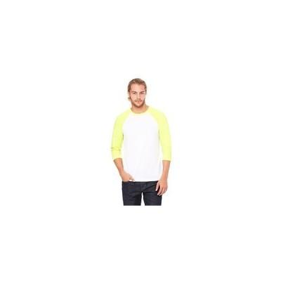 ユニセックス 衣類 トップス Bella + Canvas Unisex Jersey 3/4 Sleeve Baseball Tee C3200 グラフィックティー