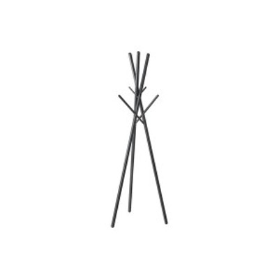 北欧風 ハンガーラック/コートハンガー 【ブラック】 幅57.5cm 木製 組立品 〔寝室 ベッドルーム リビング 玄関〕