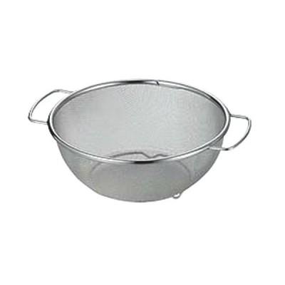 ストック 仕込み 厨房用品 / ミネックスざる A型 ハンドル付・脚部スポット止 18cm 寸法: φ180 x H80mm