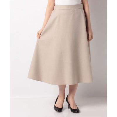 レリアンプラスハウス 【my perfect wardrobe】フレアロングスカ-ト(ベージュ系)