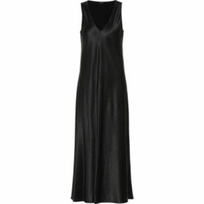 ジョゼフ Joseph レディース パーティードレス ミドル丈 ワンピース・ドレス Silk-Satin Midi Dress Black