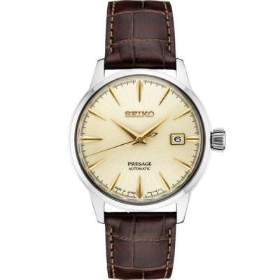 おしゃれ 個性的 高品質 腕時計 セイコー Seiko Presage Champagne Dial Leather Strap SRPC99