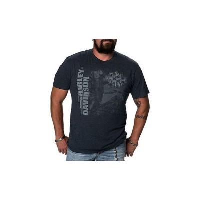 メンズ ウェア Tシャツ ハーレーダビッドソン Harley-Davidson Mens Hypnotic Lady Short Sleeve Crew Neck T-Shirt, Navy