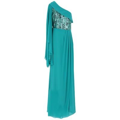 MONCHO HEREDIA ロングワンピース&ドレス エメラルドグリーン 40 ポリエステル 100% ロングワンピース&ドレス