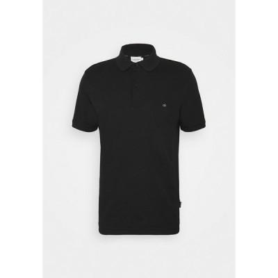 カルバンクライン ポロシャツ メンズ トップス LIQUID TOUCH SLIM FIT - Polo shirt - black