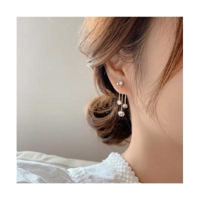 wears / 【YNG】キラキラストーン2wayピアス WOMEN アクセサリー > ピアス(両耳用)