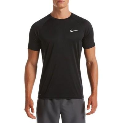 ナイキ Nike メンズ ラッシュガード 水着・ビーチウェア Essential Hydroguard Short Sleeve Rash Guard Black