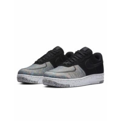 ナイキ メンズ スニーカー シューズ Nike Air Force 1 Crater recycled sneakers in black Black