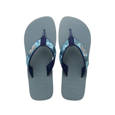 ハワイアナス メンズ サンダル シューズ Surf Material Flip Flop SILVER BLUE